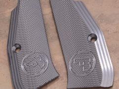 Aluminium pistol grips grey color