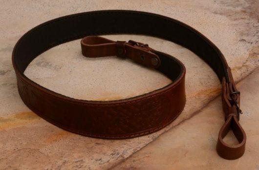 Embossed genuine leather