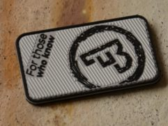 CZUB grey rubber patch