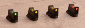 rear sights with fibre optic