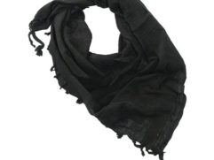 black shemagh scarf