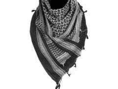 black-white scarf