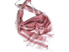 white-red keffiyeh scarf
